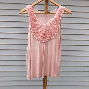 Light Pink Rose Embellished Top